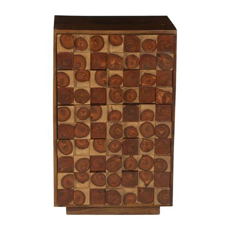 arvada tile arvada tree rings tiles solid wood chest of 5 drawers