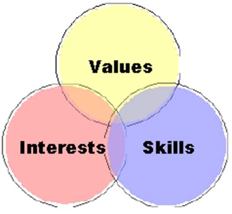 assessing your skills values interests oite careers