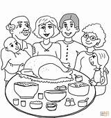 Coloring Dinner Thanksgiving Pages Printable Main Dot sketch template