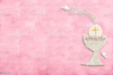 First Holy Communion Invitation Cards Stock Photo