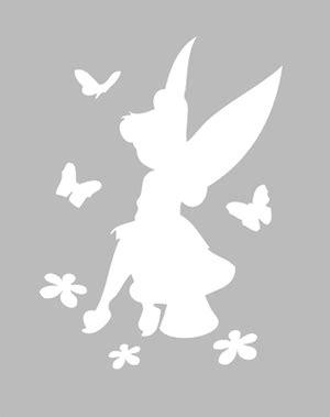 bureau f馥 clochette pochoir adhésif 14 x 11 cm fee clochette fleurs papillons pochoirs fee clochette clochette et adhésif