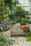 Beautiful perennial flower garden with brick path - love beautiful flower gardens pinterest