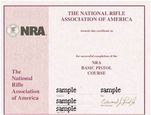 connecticut pistol permit safety course With nra certificate template