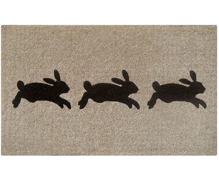 rabbit doormat leaping rabbits grey doormat home accessories and