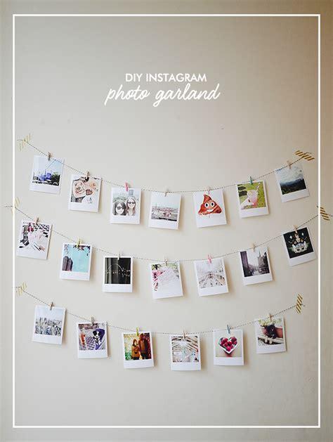 diy instagram photo garland baby room wall decor diy