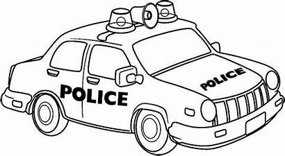 Police Drawing Coloring Pages Cars Colouring Clipart