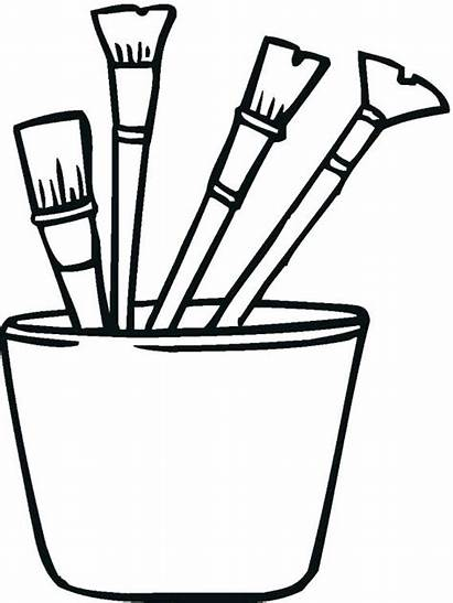Coloring Paint Tools Pages Brush Colouring Brushes