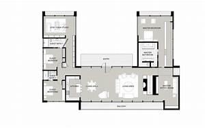House, Free, Plan, U, Shaped, House, Plans, With, Courtyard, U