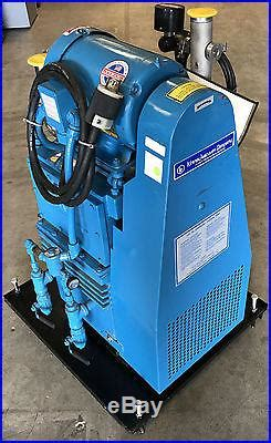 kinney ktc 60 3hp rotary piston compound vacuum pump with baldor motor