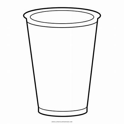 Cup Solo Copo Icon Desenho Colorir Coloring