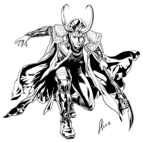 loki coloring page how to draw avengers page 1 page