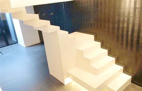 cuisine en béton ciré escaliers en béton ciré contemporain escalier