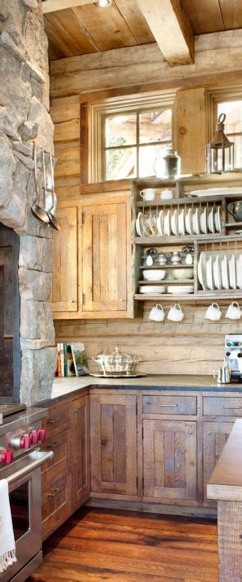 rustic kitchen storage a family lodge in the montana mountains rustic kitchen 2063