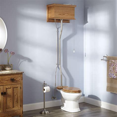 golden oak high tank pull chain water closet