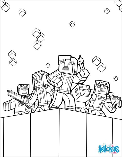 minecraft coloring page explore  world coloring pages