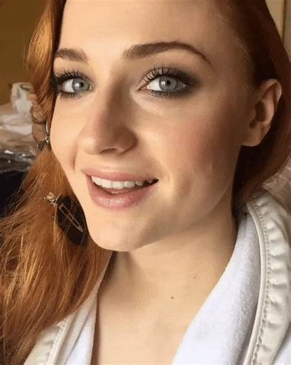Sophie Turner Makeup Mouth Stark Maisie Without