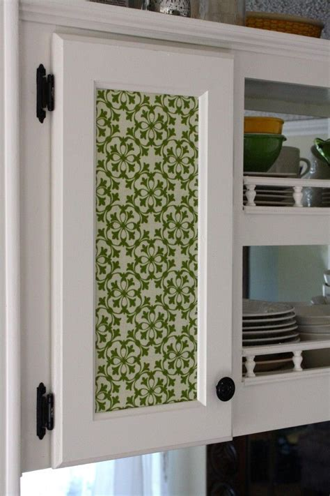 cabinet door inserts for kitchen diy fabric cabinet door inserts busy fingers pinterest