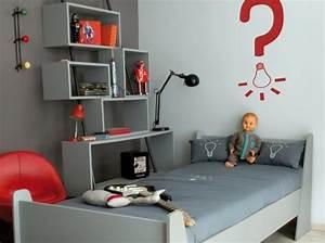Jolie deco chambre bebe gris et rouge for Deco maison rouge et gris