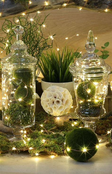 Modernes Haus Weihnachtlich Dekorieren by Glasglocke Weihnachtlich Dekorieren Mooskugeln