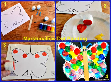 b is for butterfly preschool lesson amp craft ducks n a row 228 | Marshmallow%2BDot%2BPainting%2BButterfly