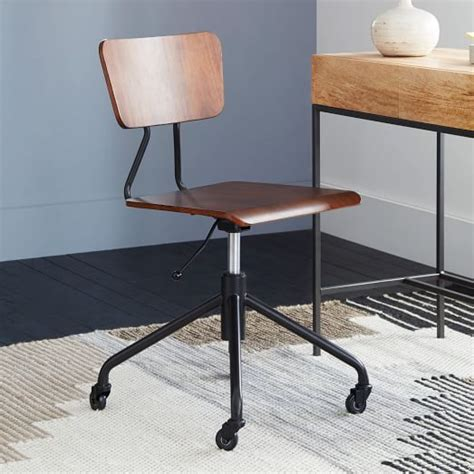 adjustable industrial office chair west elm
