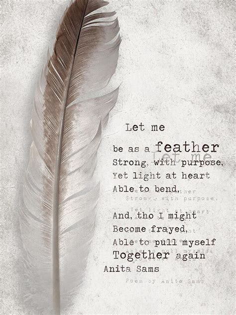 light   feather strong  purpose