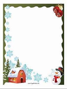 christmas borders you can download and use for a page or With christmas border letter size paper