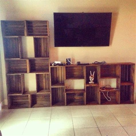 hand crafted vintage crate style wall unit  mayhem