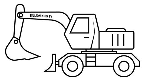excavator coloring pages coloring pages  children
