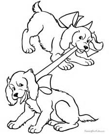 Free Coloring Pages Dogs and Puppies