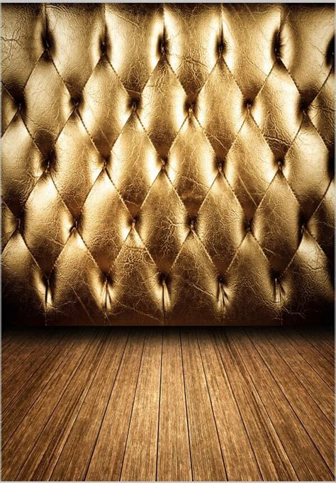 xft vintage gold tufted leather wall retro headboard