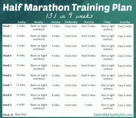 9-Week Half Marathon Training Schedule