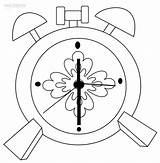 Clock Coloring Alarm Flower Past Half Steampunk Intervals Minute Cool2bkids Clocks Printable Six Coloringpagesonly sketch template