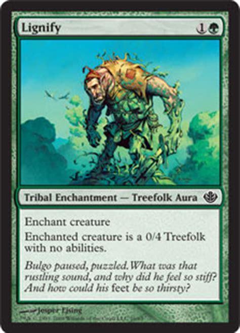 mtg green treefolk deck lignify duel decks garruk vs liliana gatherer
