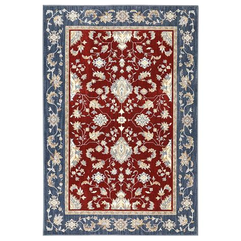mohawk area rugs mohawk home cameron garnet 5 ft 3 in x 7 ft 10 in area