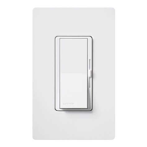 lutron skylark 600 watt single pole dimmer white s 600pr
