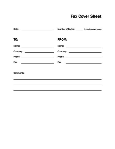 fax cover letter pdf printable fax cover sheet letter template pdf