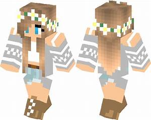 Flower Crown Girl In Sweater Minecraft Skin Minecraft Hub