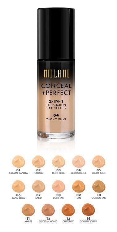 milani foundation concealer shades trang diem