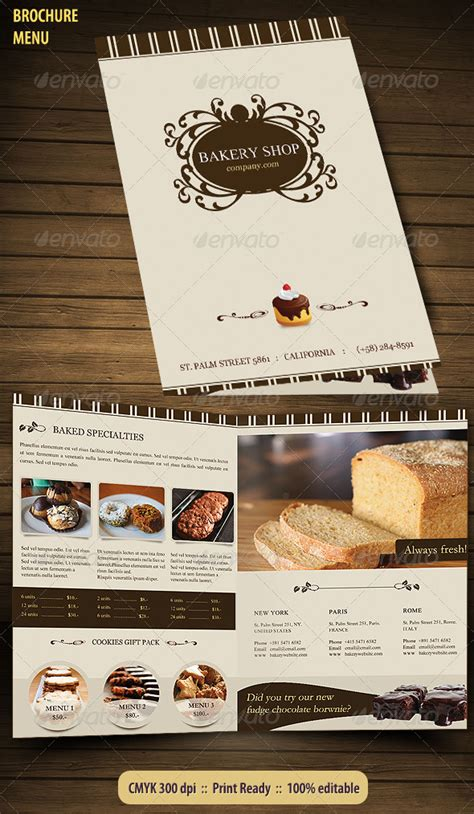 Bakery Brochure Template by Bakery Menu Brochure By Bluedesign Graphicriver