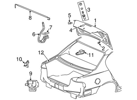 Lid Components For Pontiac Grand