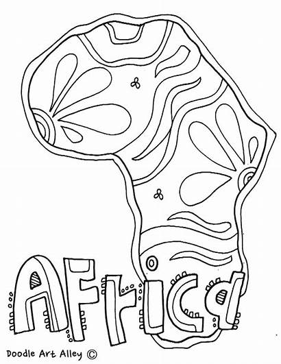 Coloring Africa Pages African Geography Continent Culture