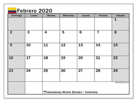 calendario febrero colombia michel zbinden es