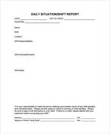 shift report template