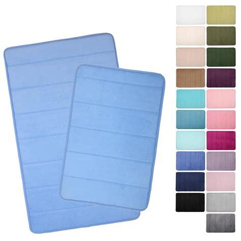 non slip shower mat microfibre memory foam bathroom bath mat 22 colours