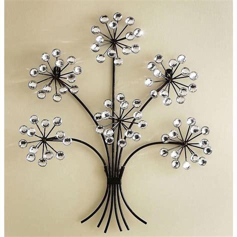 The Best Silver Metal Wall Art Flowers