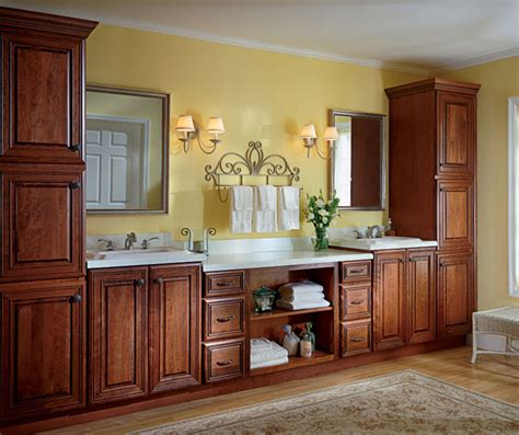cherry bathroom cabinets cherry bathroom cabinets kemper cabinetry 1230