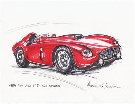 drawn ferrari jaguar car pencil   color drawn