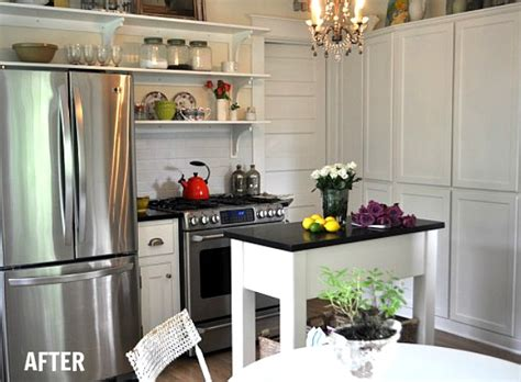 tiny kitchen makeover before after s cottage kitchen makeover 2847