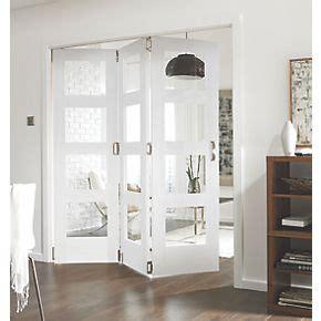 jeld wen  door  clear light primed white wooden  panel shaker internal bi fold room divider
